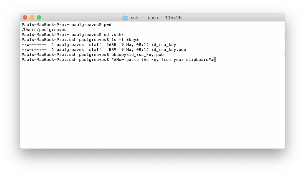 Keygen SSH on a mac